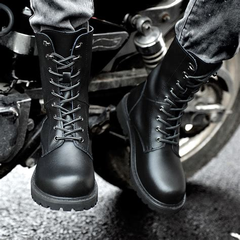 Sepatu Boots New Rock high quality tooling motorcycle boots rock boots