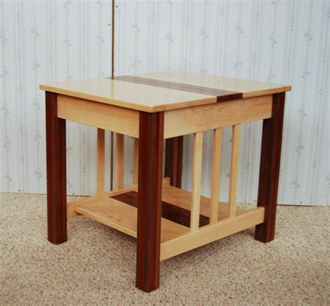 Wooden End Tables Three Wood End Table De Vries Woodcrafters