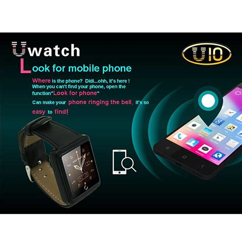 u10 smartwatch for ios and android black