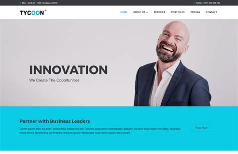 Corporate Bootstrap Html Website Template Free Download Templates Business Website