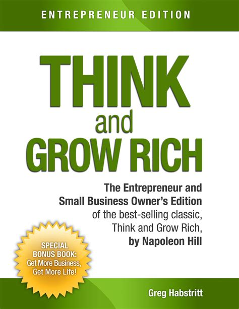 think and grow rich guide an official publication of the napoleon hill foundation books think and grow rich by greg habstritt napoleon hill on