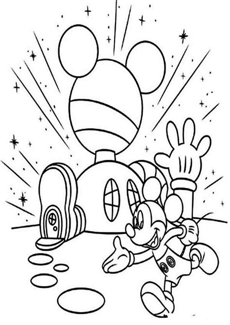 mickey mouse house coloring pages images coloring pages mickey mouse house of mouse