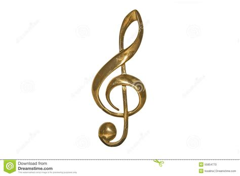 golden treble clef stock photo image 55854770