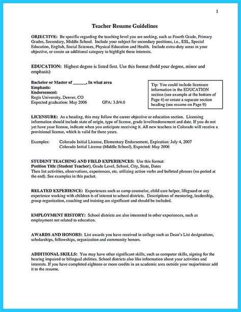 sle resumes for teachers with no experience resume exles for teachers with no experience 28 images