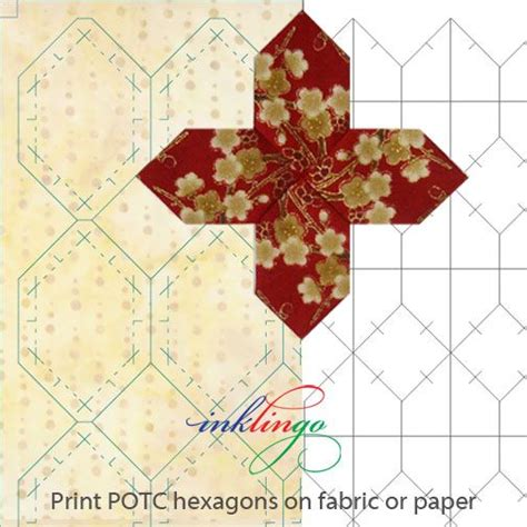 Patchwork Of The Crosses Template - print hexagons for patchwork of the crosses on fabric or