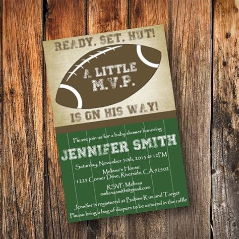 Football Themed Baby Shower Invitations by The 25 Best Football Baby Shower Invitations Ideas On