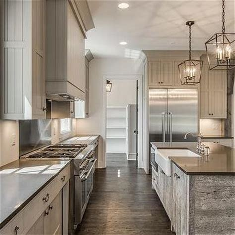 stained oak french kitchen hood design ideas page 1 reclaimed barn wood kitchen island with gray quartz