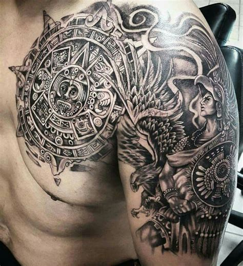 mexican aztec tattoo designs brownpride arte brown by honor