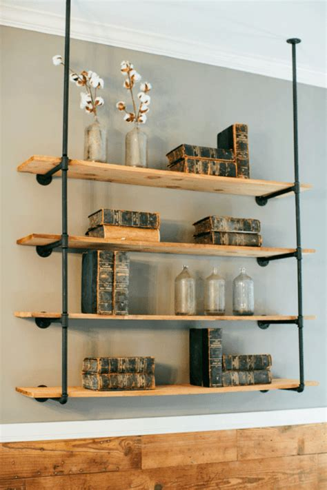 diy open pipe shelving magnolia market