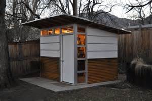 modern shed corrugated metal siding on lower 1 3rd of