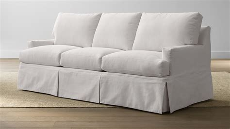 hathaway slipcovered sleeper sofa petry snow