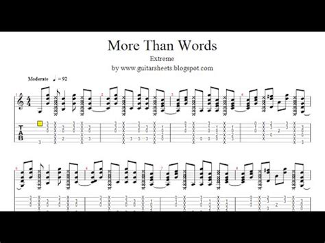 Extreme More Than Words Guitar Chords — brad.erva-doce.info