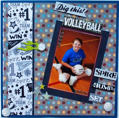 scrapbook layout ideas for volleyball 929 best images about sports scrapbook layouts on