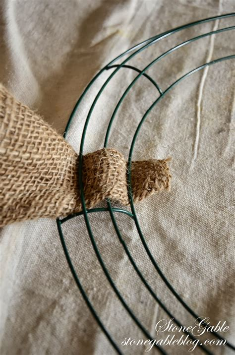 how to make a wreath with burlap burlap wreath tutorial stonegable
