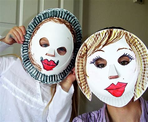 How To Make Paper Plate Masks - paper plate masks diy craft