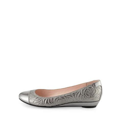 pewter flat shoes women s pamona nappa ballet flat pewter