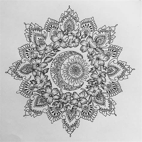 celestial tattoo designs sun and moon mandala for rosette mandala tattoos