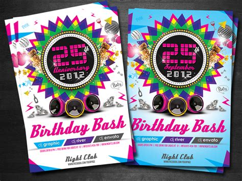 birthday invitation flyer template colorful birthday invitation flyer template by koza30 on