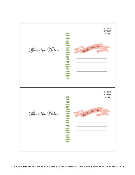 free diy save the date cards templates diy save the date postcard free printable mountain