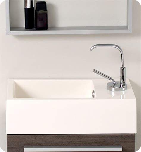 Small Vanity Sinks Fresca Pulito Small Gray Oak Modern Bathroom Vanity W
