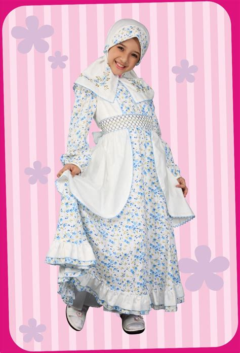 Flower Dress Bolero Biru by Be Happy Busana Muslim 3 Koleksi Lebaran 2010