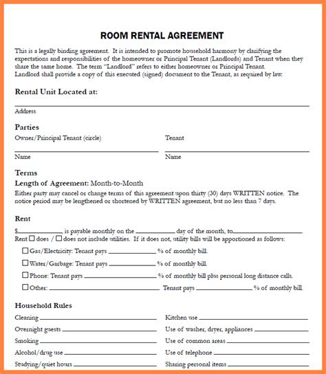 Letter Of Agreement To Rent A Car rental agreement letter template business