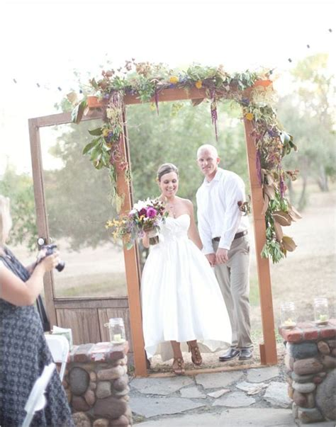 sweet chic shabby chic wedding alternative to outdoor living and arches