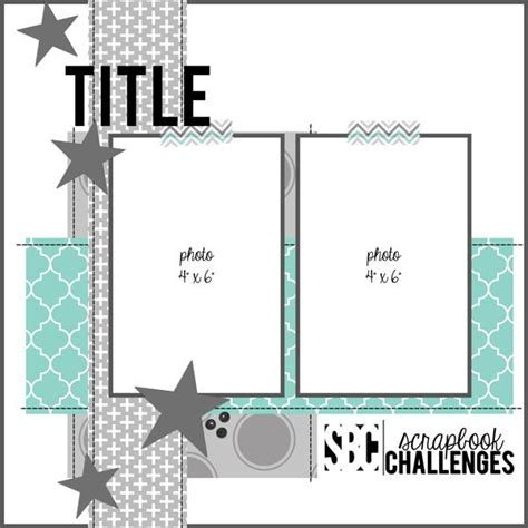 sketch 2 vertical 4x6 photos scrapbooking ideas