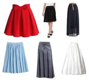 9 different stylish pleated skirts designs for
