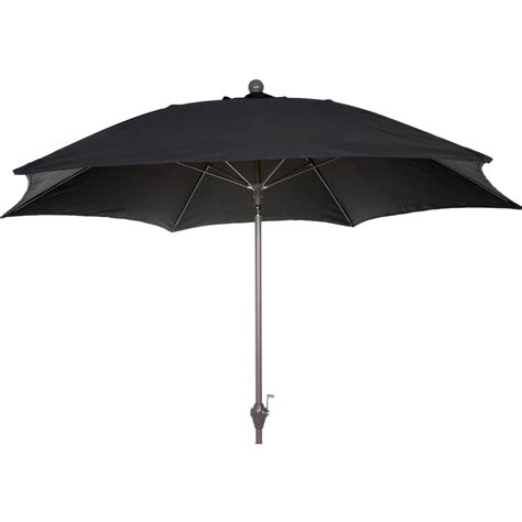 Black Patio Umbrella 9 Ft Aluminum Patio Umbrella Black Linen Shopperschoice