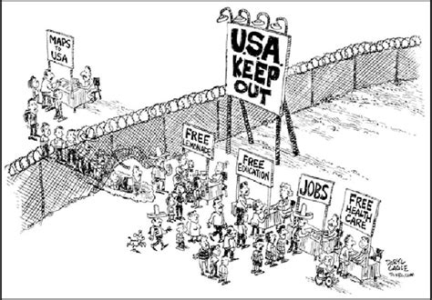 political cartoons on immigration attitudes on immigration compassion for whites ethnic
