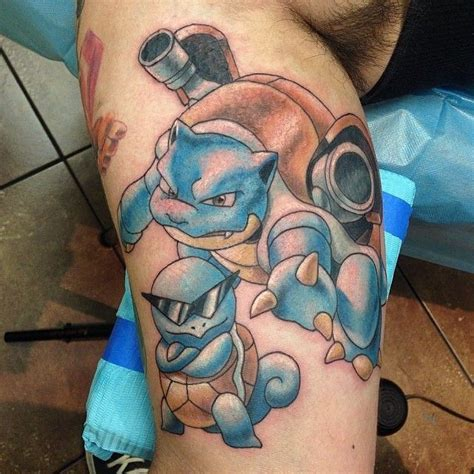 squirtle tattoo squirtle blastoise done by jamieleeparker