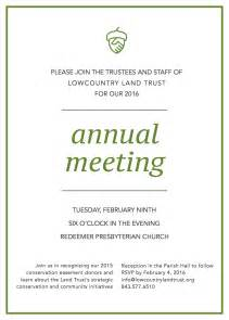 annual meeting invitation lowcountry land trust