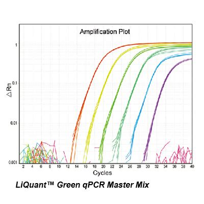 qpcr template liquant green qpcr master mix high sensitivity