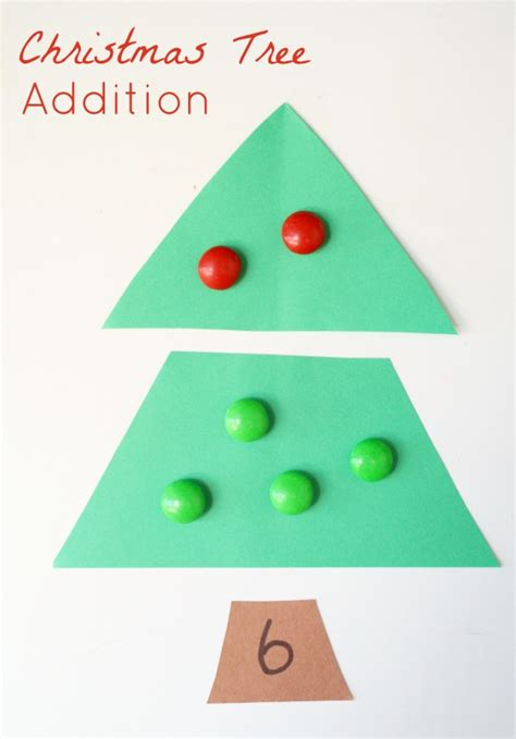 christmas for kindergarten tree addition activity fantastic learning