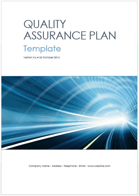 quality assurance program template quality assurance plan templates ms word excel