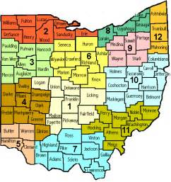 Ohio Area Codes Map by Ohio