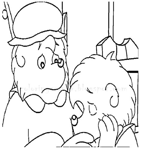berenstain bear coloring pages berenstain bears coloring pages