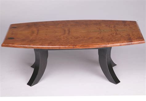 crafted bookmatched burl mesquite coffee table
