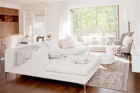 Livingroom Tiles White Sectional Transitional Living Room The Cross