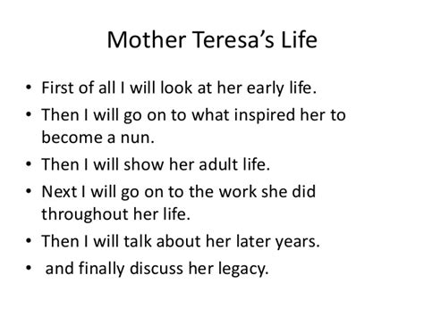 mother teresa biography for powerpoint mother teresa power point
