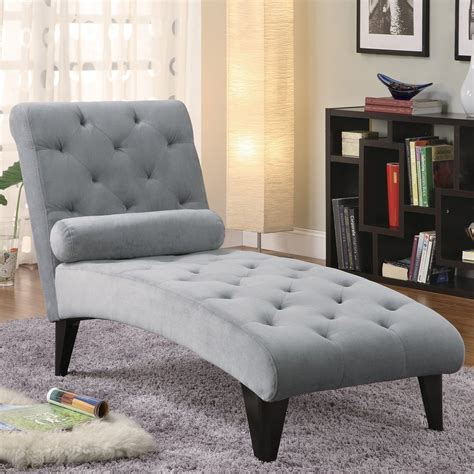 Lounge Chairs Bedroom by Shop Coaster Furniture Grey Chaise At Lowes