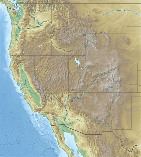 map of the west usa s
