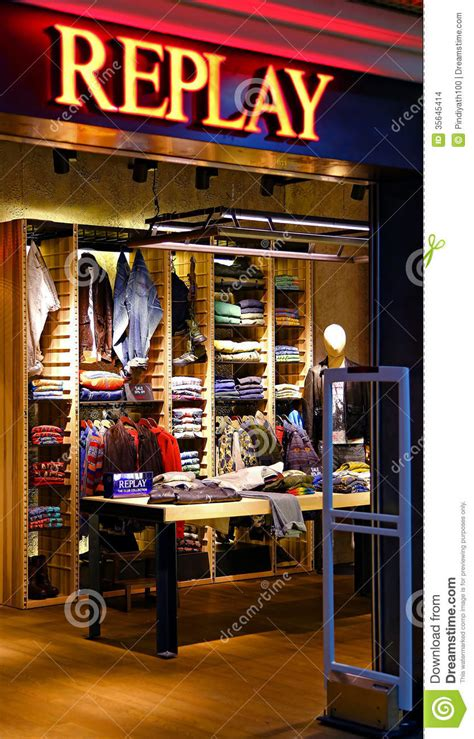 shopping dress di times square replay jeans outlet hong kong editorial stock image