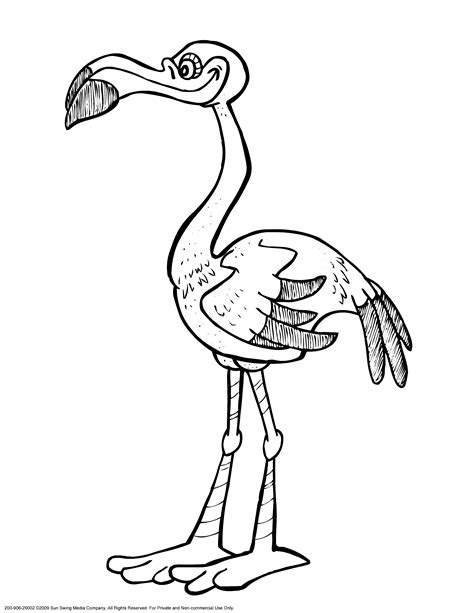 flamingo coloring pages to download and print for free