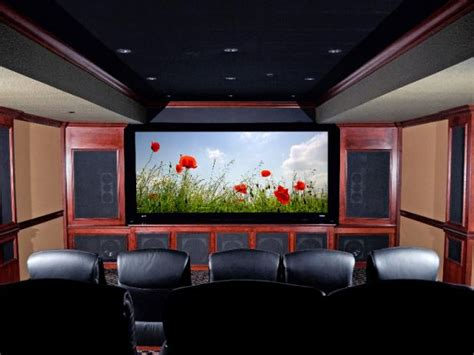 media rooms  home theaters  budget hgtv