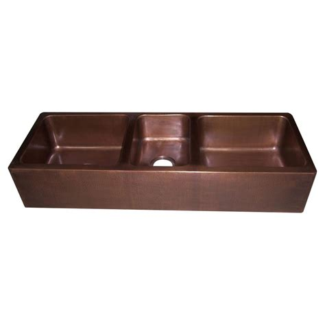 Copper Kitchen Sink Triple Bowl Coppersmith 174 Creations Kitchen Sink Bowls