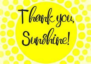 sunshine thank you free for everyone ecards greeting