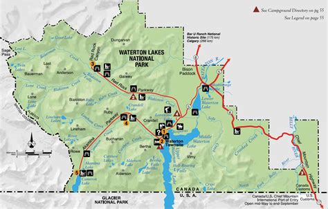 map of glacier national park canada experience waterton lakes national park experienceexperience