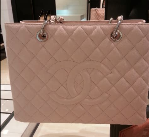 light pink chanel bag chanel light pink grand shopping tote bag spotted fashion